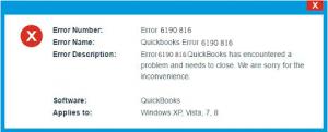 QuickBooks Error 6190 Status Code 86